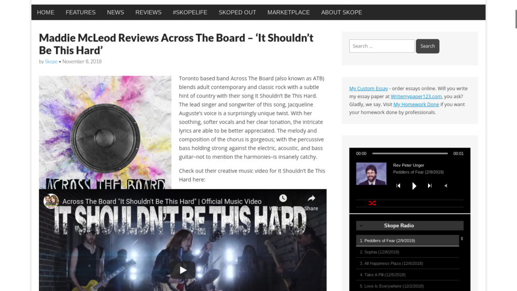 "Maddie McLeod Reviews Across The Board ""It Shouldn't Be This"