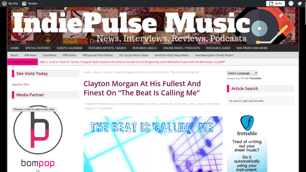 Indie Pulse Music Reviews Clayton Morgan's Latest | Record Label